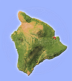 Hawaii, shaded relief map.