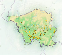 Saarland, shaded relief map.
