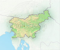 Slovenia, shaded relief map.
