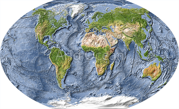World maps world map shaded relief with ocean floor gumiabroncs Choice Image